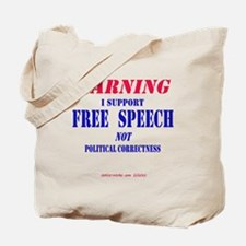 Free Speech Support Tote Bag