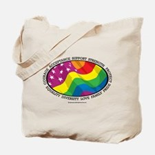 LGBTQ Flag Tote Bag