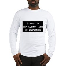 Dissent is Patriotism Long Sleeve T-Shirt