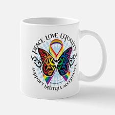 LGBT Peace Love Equality Mug