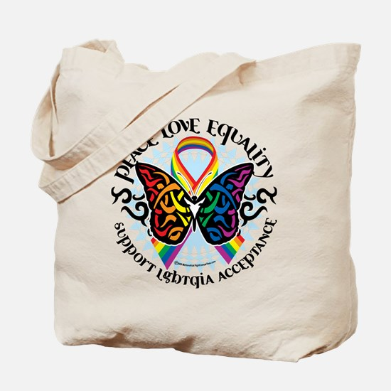 LGBT Peace Love Equality Tote Bag