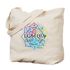 LGBTQIA Lotus Tote Bag