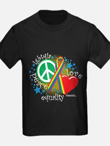 LGBTQIA Peace Love Equality T