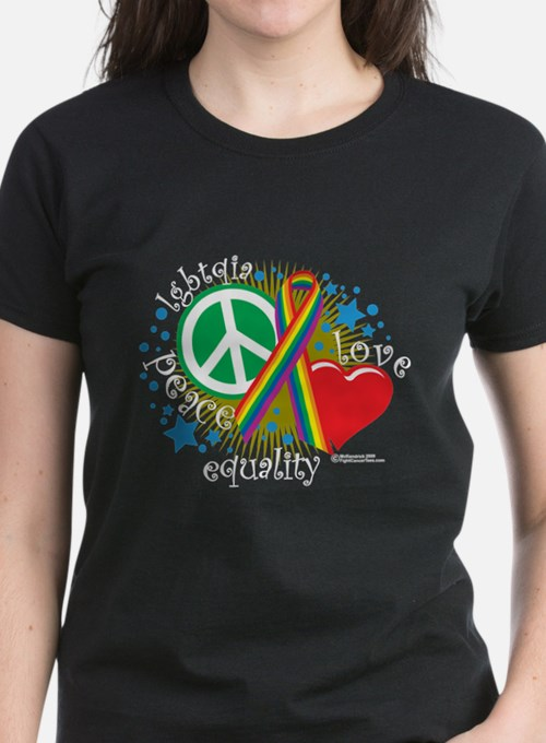 LGBTQIA Peace Love Equality Tee