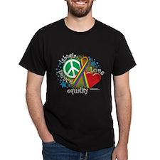 LGBTQIA Peace Love Equality T-Shirt