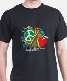LGBTQIA Peace Love Equality T-Shirt