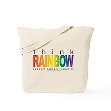 LGBTQIA Think Rainbow Tote Bag