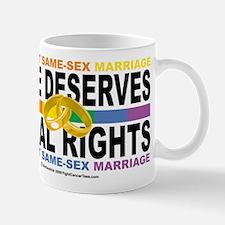 LGBTQIA Love Deserves Equal R Mug
