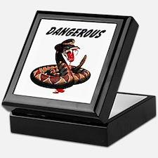 Dangerous Rattlesnake Snake Keepsake Box
