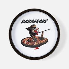 Dangerous Rattlesnake Snake Wall Clock