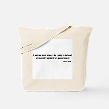 Defend Quote Tote Bag