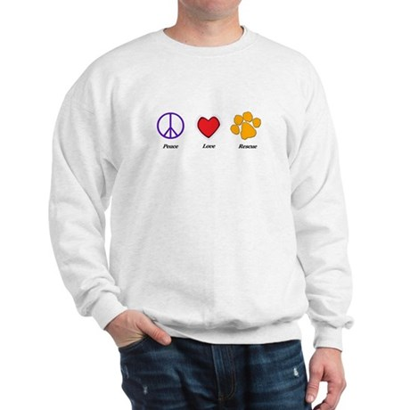 Peace Love and Rescue Sweatshirt (two sided)