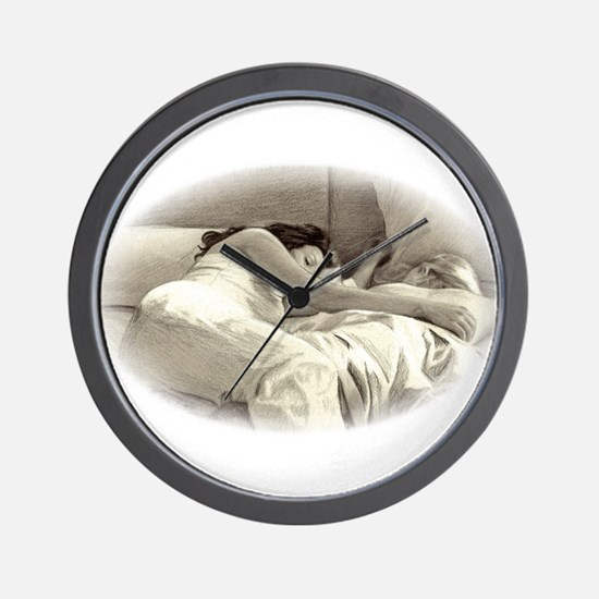 Sleeping In Wall Clock
