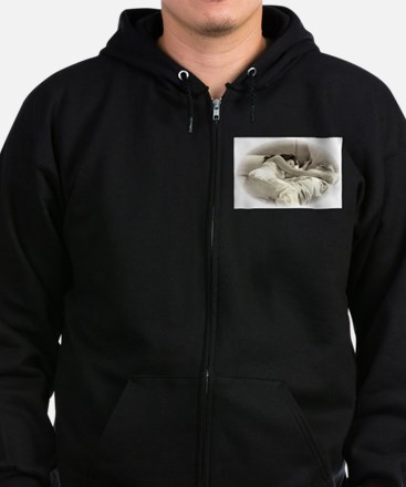 Sleeping In Zip Hoodie (dark)