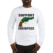 SUPPORT GREENPIECE Long Sleeve T-Shirt