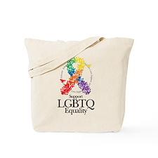 LGBTQ Ribbon of Butterflies Tote Bag