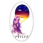Aries Oval Sticker