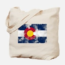 Distressed Colorado Flag Tote Bag