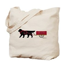 Newfoundland Pulling Cart Tote Bag