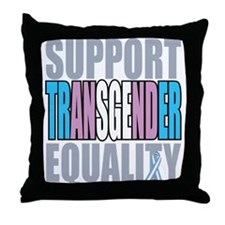 Support Transgender Equality Throw Pillow