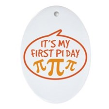 Baby's First Pi Day Ornament (Oval)
