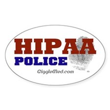 HIPAA Police Oval Decal