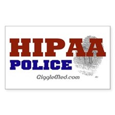 HIPAA Police Rectangle Decal