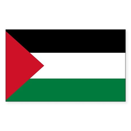 Palestinian Flag Sticker (Rectangle)