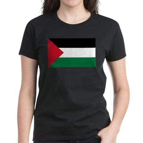 Palestinian Flag Women's Dark T-Shirt