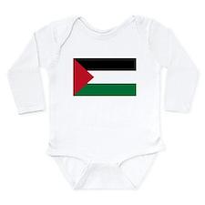 Palestinian Flag Long Sleeve Infant Bodysuit