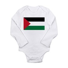 Palestinian Flag Long Sleeve Infant Bodysuit