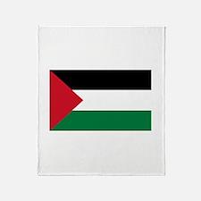 Palestinian Flag Throw Blanket