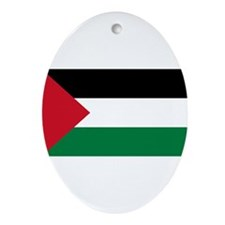 Palestinian Flag Ornament (Oval)