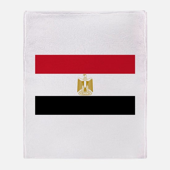 Egyptian Flag Throw Blanket