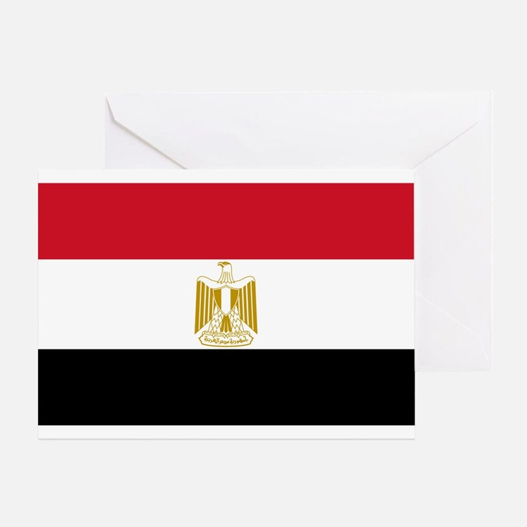 Egyptian Flag Greeting Card