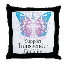 Transgender Butterfly Throw Pillow