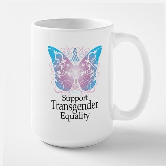 Transgender Butterfly Large Mug