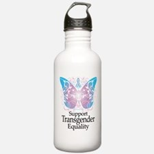 Transgender Butterfly Water Bottle