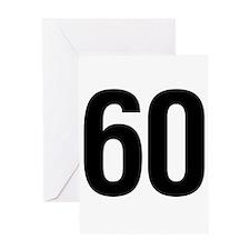 Number 60 Helvetica Greeting Card
