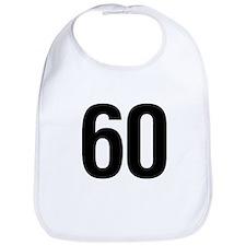 Number 60 Helvetica Bib