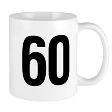 Number 60 Helvetica Mug