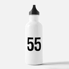 Number 55 Helvetica Water Bottle