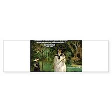 Berthe Morisot Art Quote Bumper Bumper Sticker