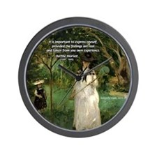 Berthe Morisot Art Quote Wall Clock