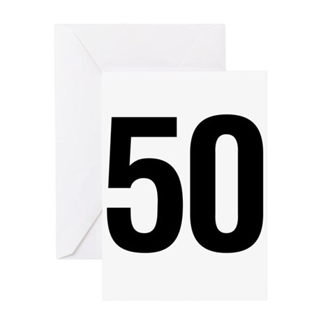 Number 50 Helvetica Greeting Card