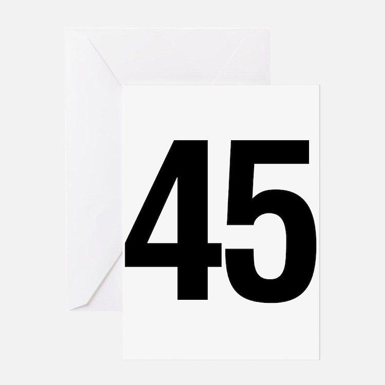 Number 45 Helvetica Greeting Card