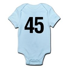 Number 45 Helvetica Infant Bodysuit