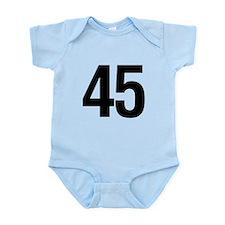 Number 45 Helvetica Onesie