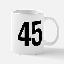 Number 45 Helvetica Mug