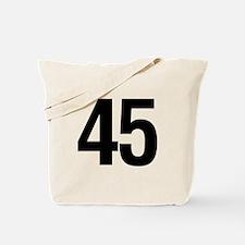 Number 45 Helvetica Tote Bag